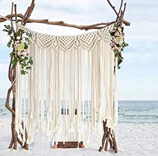 Macrame Wall Hanging Boho Wedding Hanger Cotton Handmade Wall Art Home Wall Decor,42