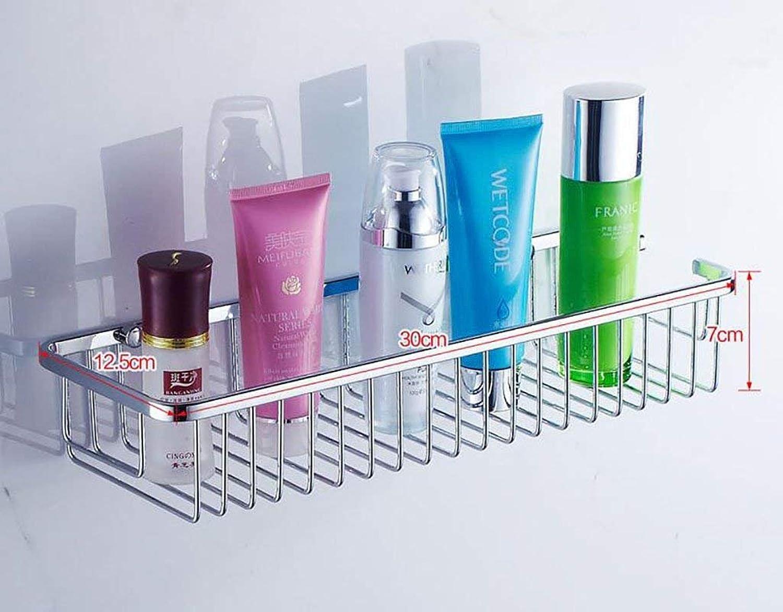 EQEQ Bathroom Shelving Stainless Steel Shelving in Bathroom Toilet Square Showcases Models Storage Rack Bathroom Wall (color  1)