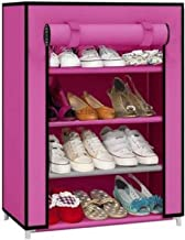 Frazzer Shoe Rack with 4 Shelves (Pink)