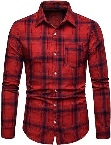Camisa Hombre Cuadros Manga Larga,Camisa Hombre Invierno con ...
