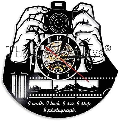 TPYFEI Mano en cámara Cámara fotográfica Reloj de Pared Fotógrafo ...