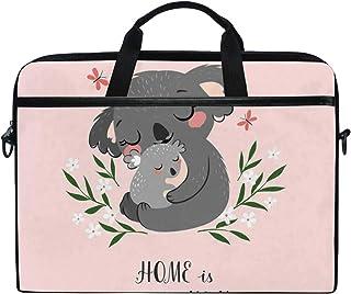 "SLHFPX Laptop Bag Koala Bear Mom Son 14"" 15"" Laptop Case Notebook Briefcase Tablet Handbag Sleeve Computer Backpack with Shoulder Strap Handle for Men Women Travel Business School"