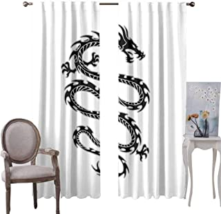 GUUVOR Japanese Room Darkened Curtain Koi Longfin Gurnard Fish Swimming Pale Complex Customized Sea Backdrop Image Insulated Room Bedroom Darkened Curtains W96 x L84 Inch Pale Green Pink