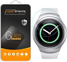 Supershieldz for Samsung Gear S2 Tempered Glass Screen Protector (AT&T, Verizon, T-Mobile 3G and 4G Connectivity Model Only), Anti Scratch, Bubble Free