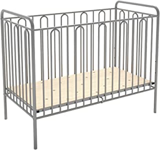 Polini Babybett Gitterbett aus Metall silber Metall