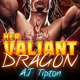 Her Valiant Dragon: A BBW Interracial Paranormal Romance audiobook cover art
