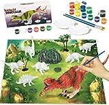 Afufu Juguetes de Dinosaurios 6 Años, Kit Pintura Niños Pintar Dinosaurios Manualidades Niñas Niños 3 4 5 6 7 8 9 10 Años, Figuras Dinosaurios Creativo DIY Juego Regalos Infantiles Cumpleaños Navidad