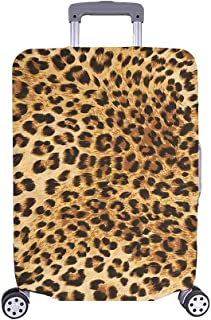 InterestPrint Leopard Skins Colorful Wild Animal Print Travel Luggage Protector Baggage Suitcase Cover Fits 18