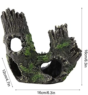 Garosa Acuario Driftwood Artificial Resina Tronco De Árbol Dodge Cría Jugar Casa Árbol Raíces Agujero del Árbol Hueco para Peces Tanque Ornamentos(#2)