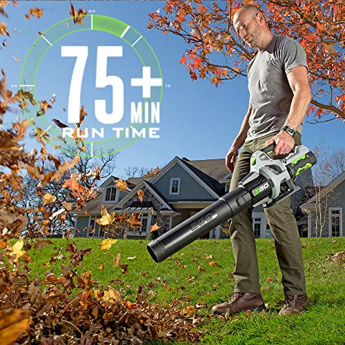 EGO Power+ LB5302 3-Speed Turbo 56-Volt 530 CFM Cordless Leaf Blower 2.5Ah Battery and Charger Included