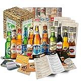 'BIRRE DEL MONDO' confezione regalo originale con le 12 migliori birre del mondo. Il miglior dettaglio per un amico, fidanzato, fratello, padre o nonno.