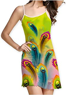 Surprise S Women Dress Spaghetti Strap Casual Summer Dress Floral Printing Ruched Slim Fit Mini Dresses