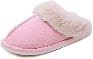 Zardimanfy Women Slippers Fluffy Plush Slip On House Slippers Memory Foam Soft Warm House Shoes for Indoor Outdoor Comfortable