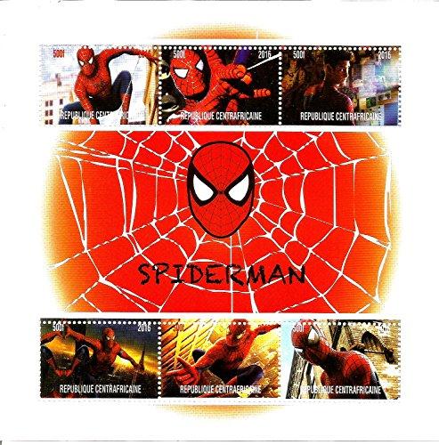 Francobolli da collezione - Spiderman Marvel DC Comics Movie MNH timbro foglio 2016
