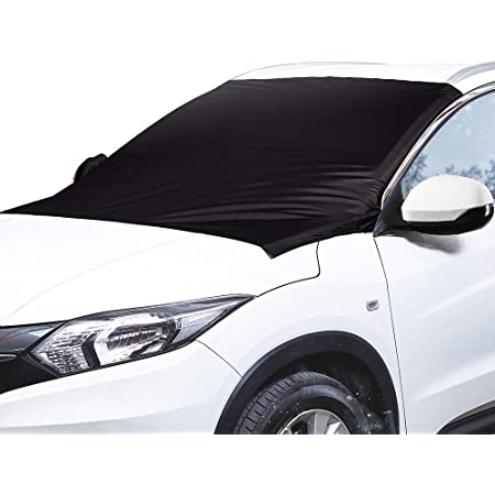 GLANDU Windshield Cover for Snow and Ice,Windshield Snow Cover for Car with 4 Layers Protection and 4 Magnetic Inside,Sunshade//Waterproof//Dustproof//Frost Defense,Large Size Fit Most Car Truck Van SUV