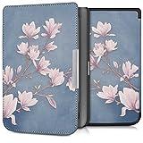 kwmobile Étui liseuse Pocketbook Touch Lux 3/Basic Lux/Basic Touch 2 - Housse avec Rabat magnétique en Simili Cuir pour liseuse Pocketbook Touch Lux 3/Basic Lux/Basic Touch 2