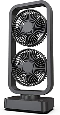 OPOLAR Battery Operated Oscillating Tower Fan, 3 Speeds Dual Motor, Quiet, Powerful, 3-12H Working Hours, Fast Charge, for Home, Hiking, Travel, Camping and Outdoor Activities-16 Inch