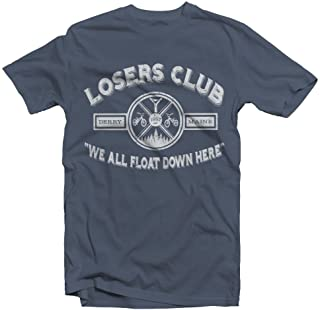 Losers Club   We All Float Down Here   Derry Maine   Distressed IT Look   Movie Fan   Adult Unisex T Shirt