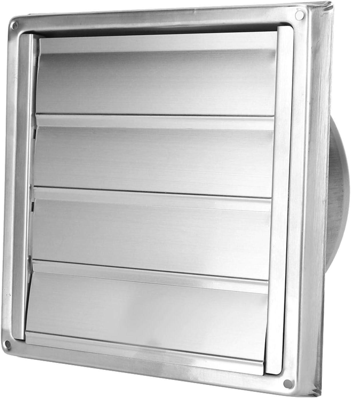 Freyla Extractor Cuadrado-Conducto de ventilación de Acero Inoxidable Parrilla Extractor de Salida de Aire Cuadrado Cubierta de ventilación
