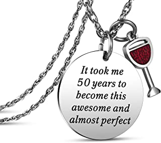 JanToDec Jewelry Happy 80th Birthday Gifts Women 80th 1938 Birthday Necklace Took 80 Years Awesome