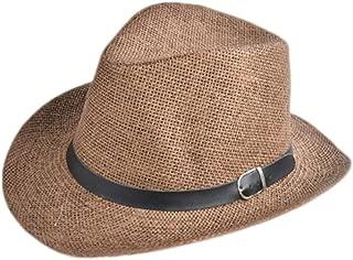 Cowboy Cap Summer Beach Travel Sunhat Popular Unisex Men Women Straw Hat with Black Belt Band Wholesale