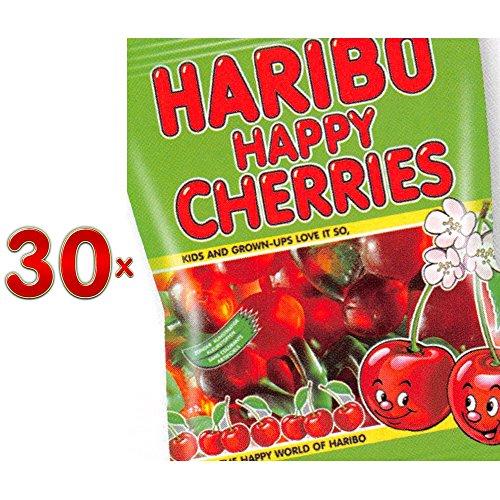 Haribo Cerises Sachet 30 x 75g Packung (weiche Fruchtgummikirschen)