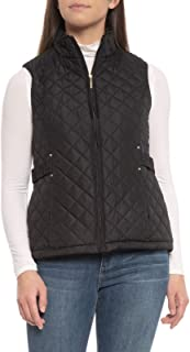 weatherproof quilted jacket with faux fur lining