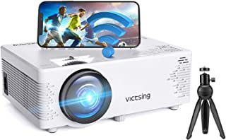 VicTsing Mini Projector Bluetooth, Movie Portable Projector Phone WiFi Projector with Tripod, Full HD 1080P Supported, Vid...