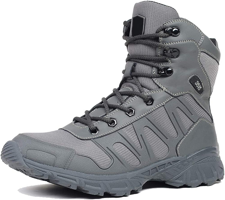 GOAIJFEN Outdoor-Kampfstiefel für Herren Cadet-Trainingsstiefel Patrol Mountain Mountain Spec-Ops Army-Schuhe Atmungsaktive, leichte Stiefel Schnürstiefel mit niedrigem Schaft,grau-43  für Ihren Spielstil zu den günstigsten Preisen