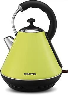 bright green kettle