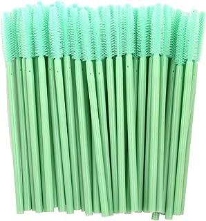 ADAMAI Professional Disposable Silicone Eyelash Mascara Brushes Wands Applicator Makeup Kits (Pack of 100, Mint Green)