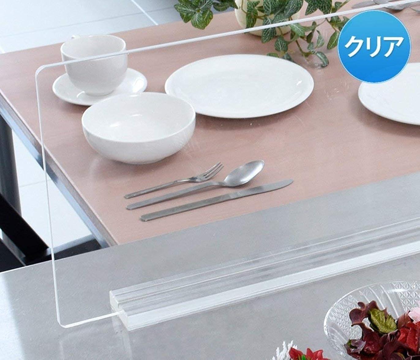 五月わざわざ邪魔するアクリル キッチン 水はね防止 スタンド (50cm幅 クリア)