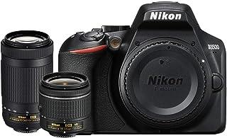 Nikon D3500 24.2MP デジタル一眼レフカメラ AF-P 18-55mm VRレンズ & 70-300mm デュアルズームレンズ (1588B) – (更新)