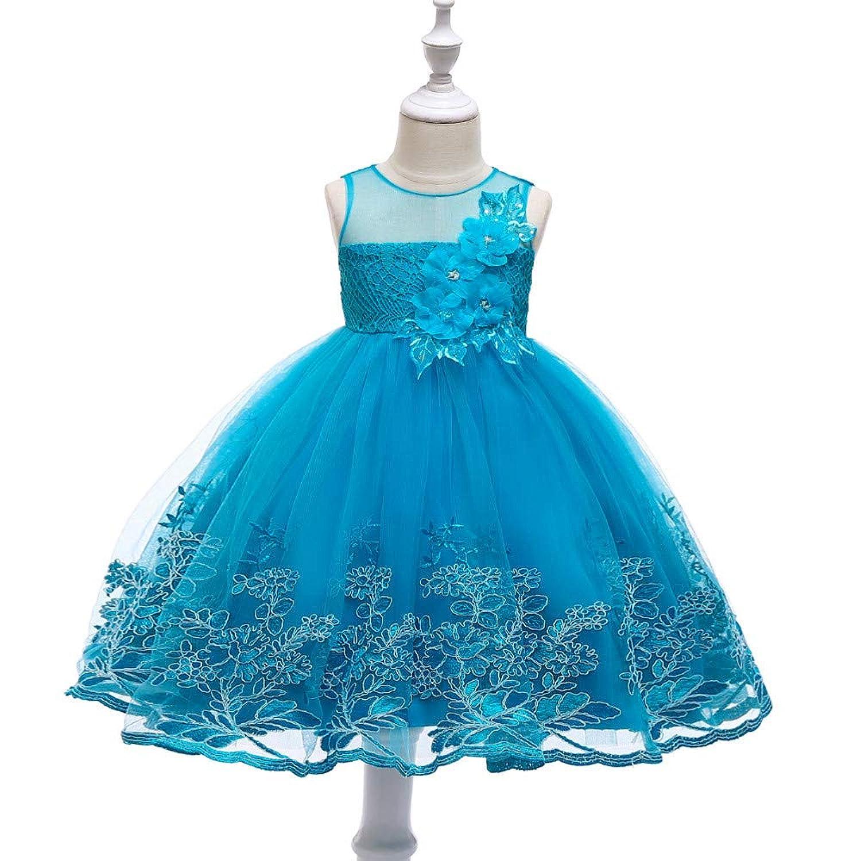 ガールズドレス 子供ドレス ワンピース 花 ピアノ 発表会 結婚式 入園式 おしゃれ キッズワンピース 新型のスカート