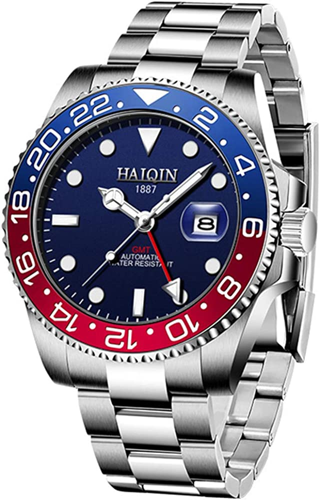 Men Automatic Wristwatch Stylish Matte Bezel Steel Cheap mail order specialty store GMT Stainless Popular brand in the world