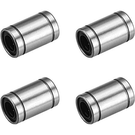 OD 7mm Linear Ball Bearings Sae52100 Carbon Steel Great for CNC Aopin LM3UU Cylinder Linear Motion Ball Bearing ID 3mm 4 Rows of Steel Balls Linear Rail Guide 4 PCS 3D Printer
