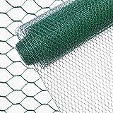 INDUTEC Sechseckgeflecht Drahtzaun Drahtgeflecht Gartenzaun Hasendraht - grün - MW: 25 mm | H: 100 cm | L: 25 m Rolle