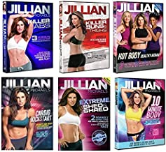 Jillian Michaels DVD Collection: Cardio Kickstart, Hot Body Healthy Mommy, 10-Minute Body Transformation, Extreme Shed & Shred, Killer Buns & Thighs, Killer Abs (6 Discs)