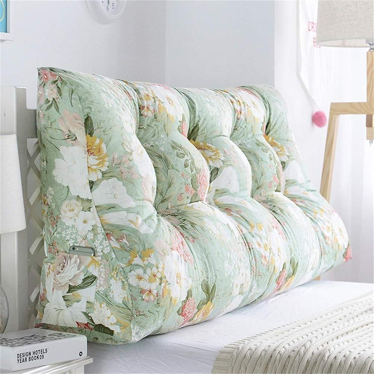 ドキドキ訪問路地GLP ベッドサイドクッション三角背もたれ腰のソファ大きな枕張りパッド22色&8サイズで取り外し可能 (Color : M, Size : 90x30x60cm)