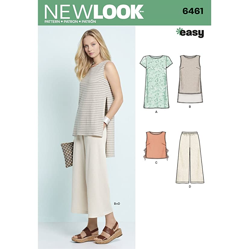 New Look Patterns Misses' Dress, Tunic, Top and Cropped Pants A (6-8-10-12-14-16-18) 6461