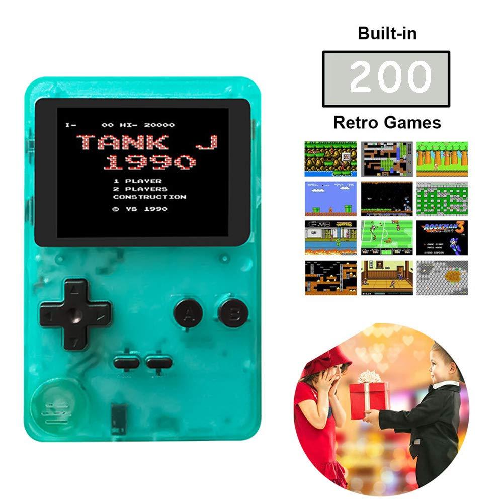 WFGZQ Consola De Juegos Portátil, Consola De Juegos Retro Portátil, Pantalla De 2.8 Pulgadas, 200 Juegos Clásicos Incorporados, TV De Soporte Y Dos Jugadores, Niños: Amazon.es: Hogar