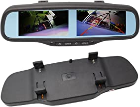 """800x480 HD Dual Screen Mirror Monitor, 4.3"""" Rearview Backup TFT LCD Display 4-Channel Video Input for Car Rear Front Side View Cameras"""