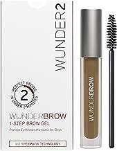 WUNDER2 WUNDERBROW Long Lasting Eyebrow Gel for Waterproof Eyebrow Makeup, Blonde Color