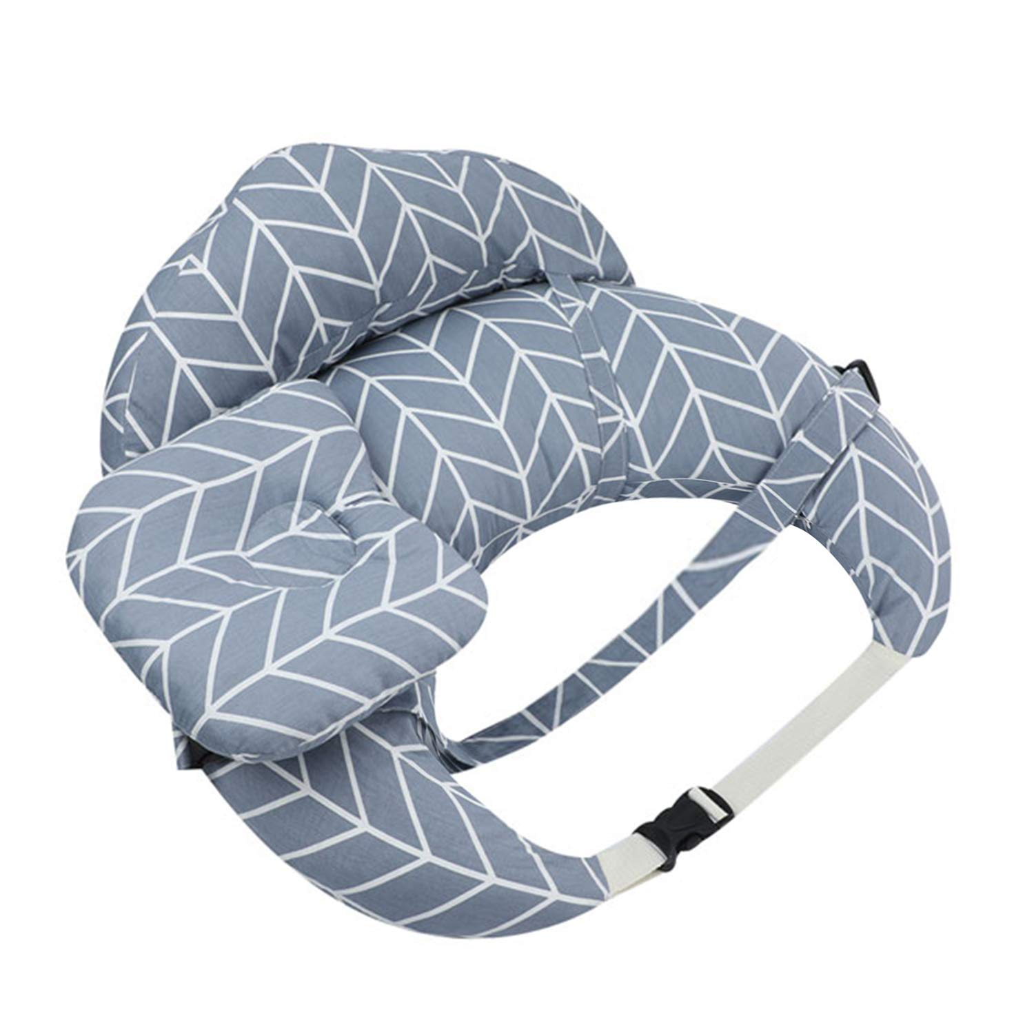 3 Packs Newborn Nursing Pillow and Positioner Infant Breastfeeding Pillows with Headrest & Backrest & Halter Neck Sling Perfect Baby Shower Registry Gifts New Grey