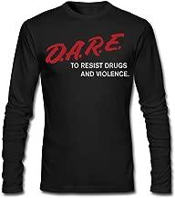 NANCY Men D.A.R.E to Resist Drugs & Violence Tshirt Long-Sleeve Tee