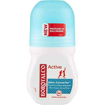 Borotalco Deodorante Roll On Active Blu, 50ml