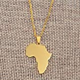 DTKJ Classic Africa Map Necklace&Pendant for Women and Men Necklace Gold Silver Color Collier Afrique Jewelry