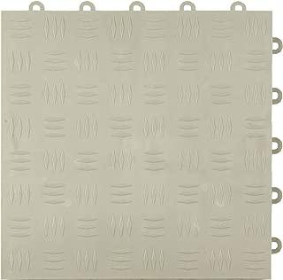 Greatmats Garage Floor Tile Diamond Design, Snap Together Modular Tile 1x1 Ft x 5/8 Inch Plastic Garage Flooring, 24 Pack (Light Gray)