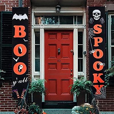 Huishang Halloween Decorations Porch Sign