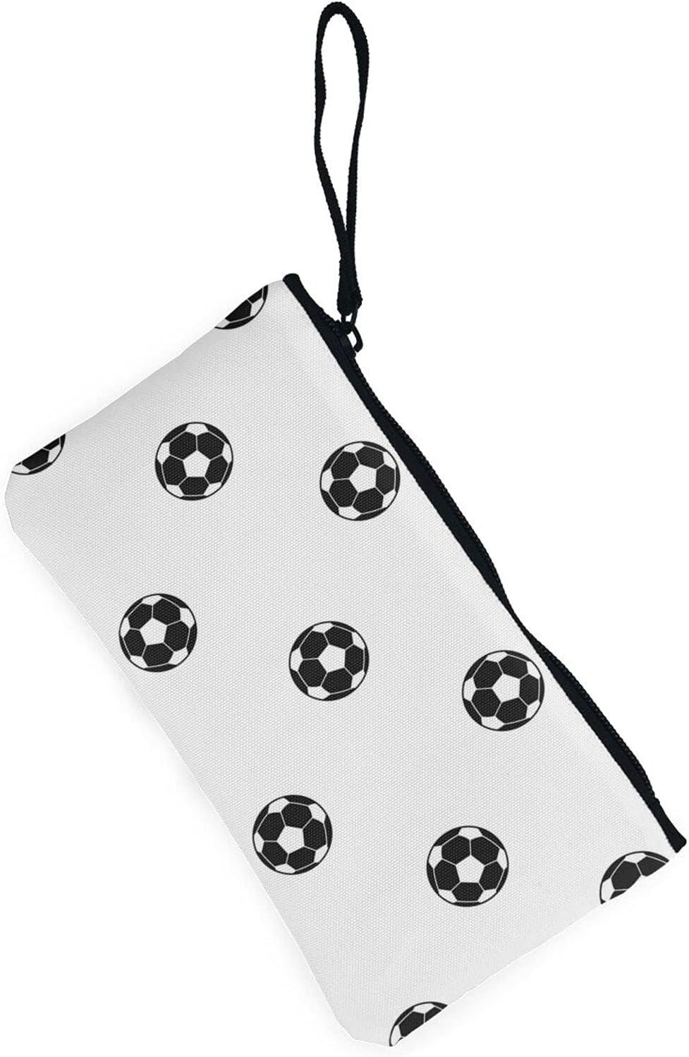 AORRUAM Soccer ball pattern Canvas Coin Purse,Canvas Zipper Pencil Cases,Canvas Change Purse Pouch Mini Wallet Coin Bag